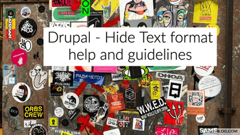 Drupal 8 - How to hide help link About text formats and text format guidelines