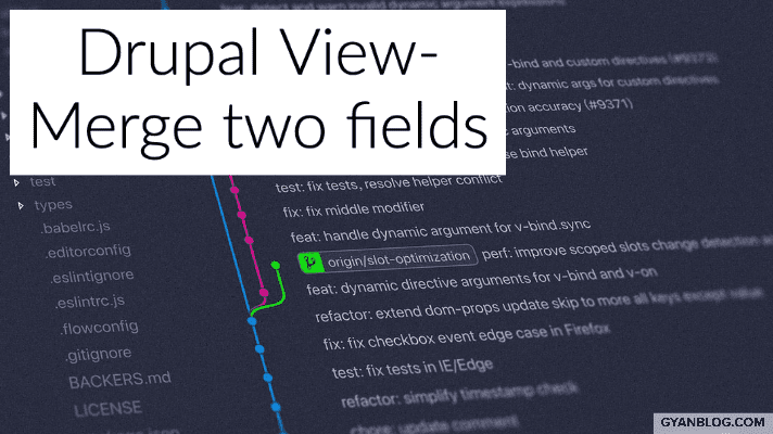 Drupal 8 Views - How to merge two fields by hiding another field
