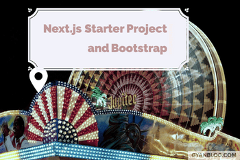 Next.js Bootstrap Starter - Nice Template Navbar Header and Few Pages