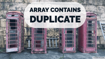 Find if Array contains Duplicate Number - Leet Code Solution