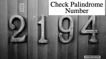 Check whether an integer number given is palindrome or not - Leet Code Solution
