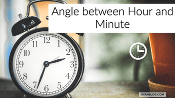 How to calculate angle between hour and minute hand, given a time